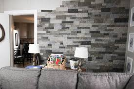 We love our new faux stone veneer wall from AirStone! This stuff is so easy