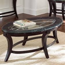 marvelous black oval stone coffee table with wooden base on white dining room carpets as well