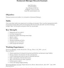 Resume Objective Examples Customer Service Luxury Food Service