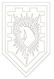 Small Picture Coloring page Lego Nexo Knights shields 6 on Kids n Funcouk On