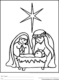 Simple Nativity Coloring Pages