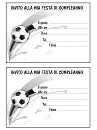 Biglietto Invito Pallone Mod Soccer Sports Party Nel 2019