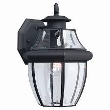 outdoor lighting motion sensor elegant sea gull lighting 12 in h black outdoor wall light at