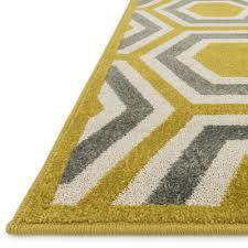 catalina hexagon citron gray outdoor rug 7ft 10in x 10ft 9in