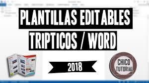 Descargar Plantillas Editables Triptico Chico Tutorial Youtube
