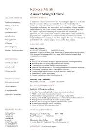 Manager Responsibilities Resume