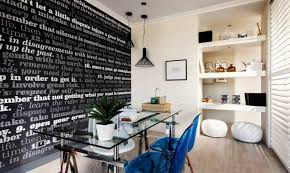 wallpaper for home office. Use Wallpaper To Make A Statement And Inspire You, You\u0027ll Never Want Leave The Room - Just Like This Stylish Office In Oslo. Set Sce\u2026 For Home