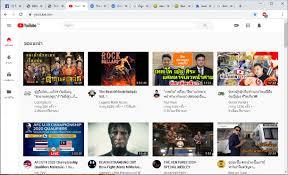 หน้าแรก youtube แต่ละแถวปกติจะมี 5 คลิป ตอนนี้มี 4 คลิป แถบเมนูโดนย่อไว้ -  Pantip