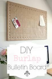 diy burlap bulletin board makeover