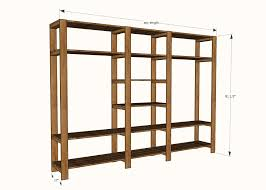ana white industrial style wood slat closet system with galvanized build free standing plans 9