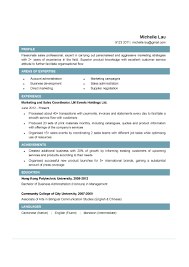 Resume Sales Coordinator Resume