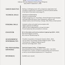 Sample Resume Of Engineering Student Fresher Beautiful Photos 29
