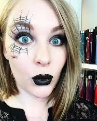 simple spider web makeup for easy last minute makeup looks