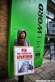 Boycott Israel News London Protest Asks Pen To Respect Cultural