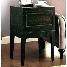 lamp tables with storage small black end table accent table storage new antique distressed black storage lamp tables with storage end table small