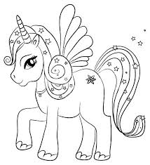 Unicorn Rainbow Coloring Pages Unicorn Coloring Pages To Print