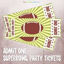 Admit One Ticket Template Free Amazing Printable Admit One Super Bowl Party Ticket Free Printables Online