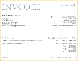 Template Invoice Format Word Doc Template For Furniture Stores