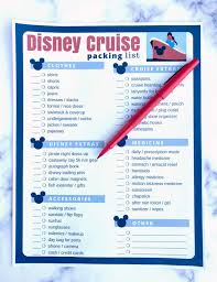 7 Day Cruise Packing List Important Things To Pack Disney Cruise Packing List