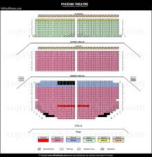 Phoenix Theatre London Seat Map And Prices For Come From Away