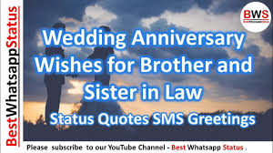 Wedding Anniversary Wishes For Brother And Sister In Law Status Quotes Sms Greetings