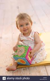 Baby Sit Smile Play Substance Cube Stock Photo 144284287 Alamy