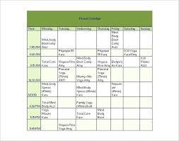 Exercise Program Templates Workout Schedule Templates Doc Free Premium Gym Plan