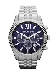 michael kors mk8280 lexington silver mens bracelet watch in gallery