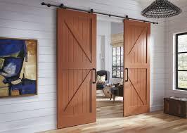 types of interior barn doors