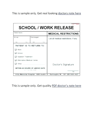 Easy Way To Get A Doctors Note Doctors Note Template Simple For Work Inspirational Free Notes Dr