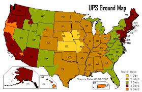 Ups Ground Chart Help Answer