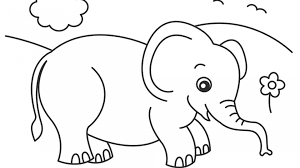 Coloring Pages Elephants Free Elephant In Free Elephant Coloring