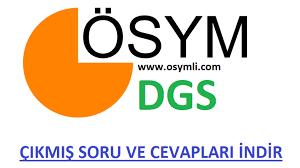 2021 DGS Sınav Soruları ve Cevapları PDF İNDİR