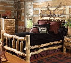 elk antler aspen log bed cal king