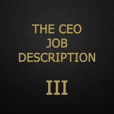the ceo job description