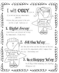 Small Picture LDS ACTIVITY IDEAS I Can Be Obedient Coloring Page