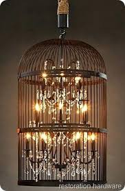 bird cage lighting birdcage chandelier c copper birdcage lampshade