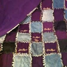 Quilt from Crown Royal bags | If I Ever Learn To Sew | Pinterest ... & Crown Royal Quilt with Bags and Old Jeans.I think I would just use black  jeans tho Adamdwight.com