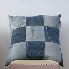 Pillow from Recycled Jeans