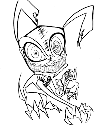Small Picture Scary Halloween Coloring Pages Free Printable Archives Throughout