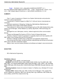 Linux Server Administrator Resume Free Resume Example And