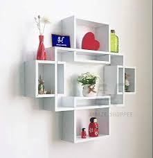 wood set top box wall shelf