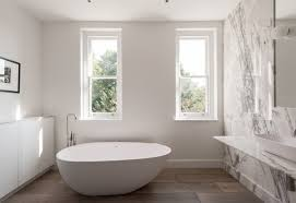 if you want a freestanding bath that s easier to clean consider one with a flat