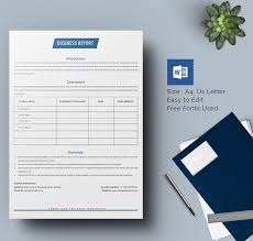 report template for word 25 business report template free sample example format