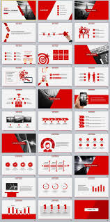 30 Red Annual Design Powerpoint Templates Pptx Inspo Pinterest