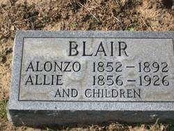 "Sarah Alice ""Allie"" Clark Blair (1856-1926) - Find A Grave Memorial"