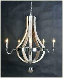 wine barrel chandelier knock off