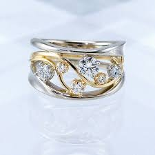 Fashion Two Tone 925 <b>Silver</b> Rings Women Jewelry White Sapphire ...