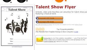 5 Talent Show Flyer Templates Af Templates