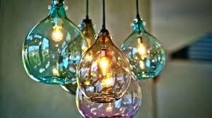 hand blown glass pendants hand blown glass pendants pendant lights brilliant epic for 3 clear lighting